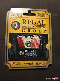 25 Regal Entertainment Group Gift Card Regal Cinemas