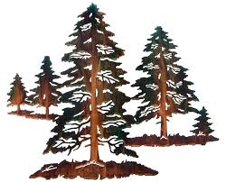 on wood pine tree wall art with pine tree forest metal wall sculpture