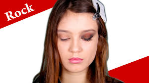 punk glam 80s rock makeup tutorial ac dc rock concert makeup look you