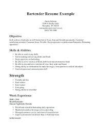 Sample Bartender Resume Bartender Resume Sample Bartender Resume
