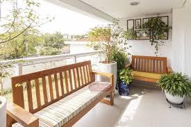 O ideal é manter aproximadamente 50 cm de largura para cada assento, isso significa que, se o seu banco ou sofá. Banco Rustico Para Varanda Arte Moveis Rusticos