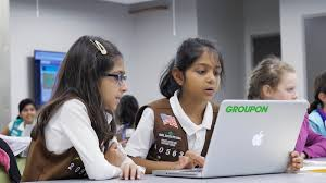groupon hosts stem work with girl scouts of greater chicago