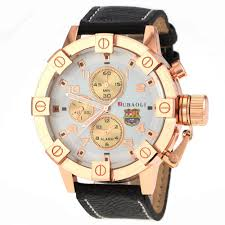 watch men in black picture more detailed picture about new new barcelona football fans watches jubaoli brand fashion gold big face casual pu quartz watch men