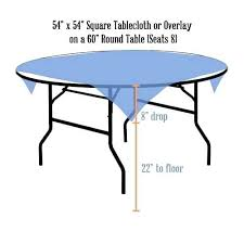 what size tablecloth for a 60 round table square x on inch 42 36 what size tablecloth for a 60 round table