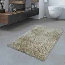 Badezimmer Teppich Hochflor Badematte Modern Kuschelig Weich Uni