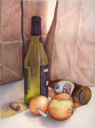 still life beer and onions color pencils i could not find the artist on this one but it is very handsome the use of 000 studio ap portfolio