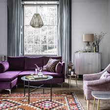 Purple Living Room Room Reveal Purple And Grey Living Room Sophie Robinson