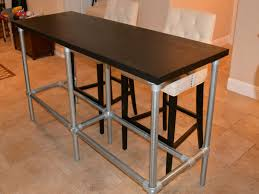 Bar Table Height Diy Counter Height With Pipe Legs Kitchen Island