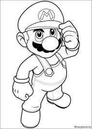 Super Mario Bros Kleurplaat Mario