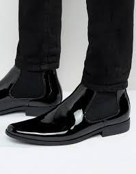 australia men s asos chelsea boots in black patent fqdeohz