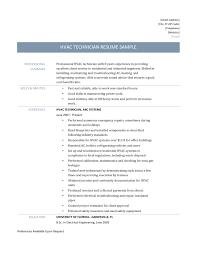 Hvac Technician Resume 20 Hvac Resume Free Installer Word Download
