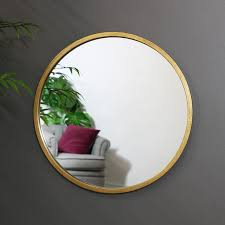 large round gold wall mirror 50cm x
