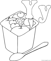 Push pack to pdf button and download pdf coloring book for free. Letter Y And Yogurt Coloring Page Coloringall