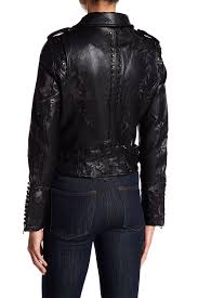 vigossfl studded faux leather jacket
