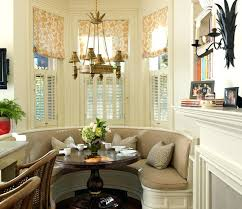 dining table banquette seating round