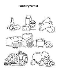 Related Pictures Food Pyramid For Kids Coloring Page Coloring
