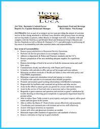 Stunning Bar Server Job Description Creative Resume Cv Cover Letter