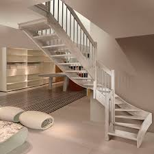 half turn staircase wooden frame wooden steps without risers imperia f1 inox