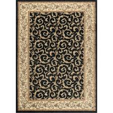 8 x large ivory gold and black area rug elegance furniture brown rugs red