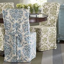 damask blue dining chair cover from through the country door 24 99