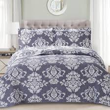 hj home damask purple bedding jacquard
