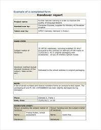 Image Result For Handing Over Report Writing Sample | Mmm ...