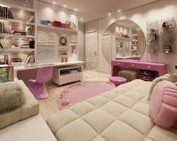 A Unique Pillows Or Bolsters Decoration For Young Women Bedroom In White  And Pink Theme Completed