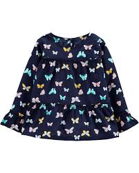 Butterfly Poplin Tiered Top Carters Com