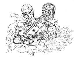 Small Picture Inspirational Mortal Kombat Coloring Pages 83 On Line Drawings