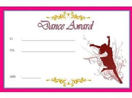 Dance Award Certificate Dance Award Certificate Template Dance Certificate Templates