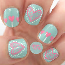 75 Most Stylish Pink Heart Nail Art Design Ideas