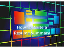 How To Write A Resume Summary Or Resume Summary Example - Resume ...