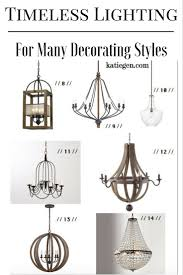 Timeless lighting options for a variety of decorating styles