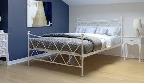 white metal furniture. 135cm Bedstead Bryndle Alpine White Metal Furniture