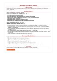 Surgical Nurse Resume Medical Surgical Nurse Resume Great Sample Resume