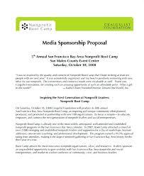 Proposal Letter For Sponsorship Sample For Event Sponsorship Proposal Templates Outsourcing Template Free