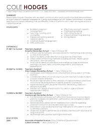 Assistant Teacher Resume Example Teacher Assistant Resume Sample