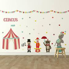 Small Picture Childrens Circus Wall Sticker Set Wall Stickers Wall Decals