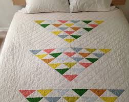 Basic Quilt Pattern | Etsy Studio & Modern flying geese quilt pattern PDF: great for beginners Adamdwight.com