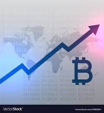 Growth Chart Design Upward Growth Chart For Bitcoin Currency Design