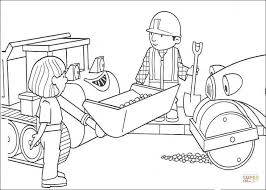 Small Picture Roley And Scoop Help Bob To Repair The Road coloring page Free