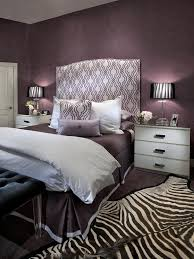 Purple Master Bedroom Contemporary Purple Bedroom With Zebra Print Rug Hgtv