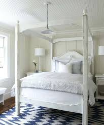 Bedroom Solid Black Bed Canopy White Wood Canopy Bed Queen Fabric ...