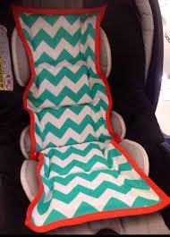 car seat cooler teal chevron