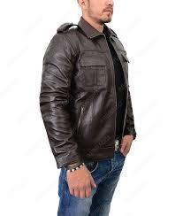 men s zipper jacket men s dark brown leather jacket men s motorcycle jacket