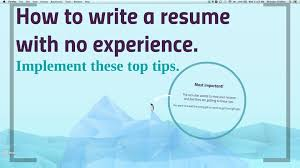 How To Write A Resume Experience How to write a no work experience resume YouTube 43