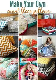 floor pillows diy. Make Your Own Floor Pillows Diy