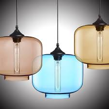 in stock modern transpa glass pendant light hand blown colorful with 1 light dining room living room lighting bedroom ceiling lights