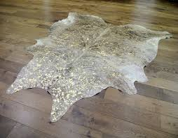exotic natural gold cowhide