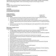 Social Work Resume Skills Clever Design Sample Social Work Resume 100 Social Worker Resume In 75